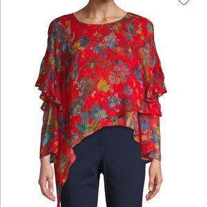 NWT Iro floral ruffle shirt